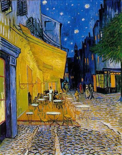 Në vend të fjalëve, një pikturë. Most-famous-painting-cafe-terrace-at-night